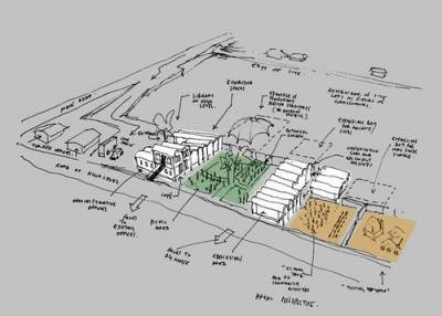 Architect's sketch for future Interpretation Centre
