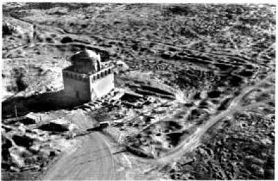 Aerial photo of the Mausoleum of Sultan Sanjar