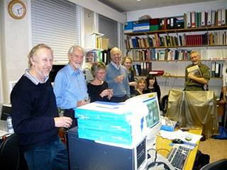 Gordon with Institute colleagues (2007)