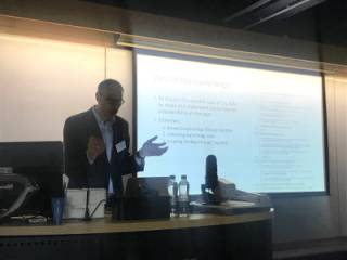 Rodney Harrison speaking at the Digital Heritage in a World of Big Data conference (Stirling, May 2019)