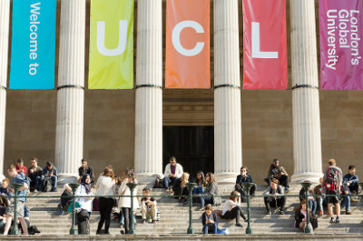 UCL portico (Image courtesy of UCL Media Services)