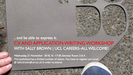 CV Writing Workshop with Sally Brown