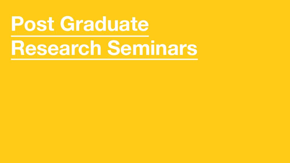 PG Research Seminars