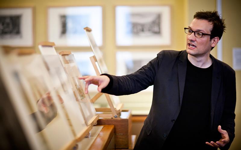 Richard Taws in the Strang Print Room