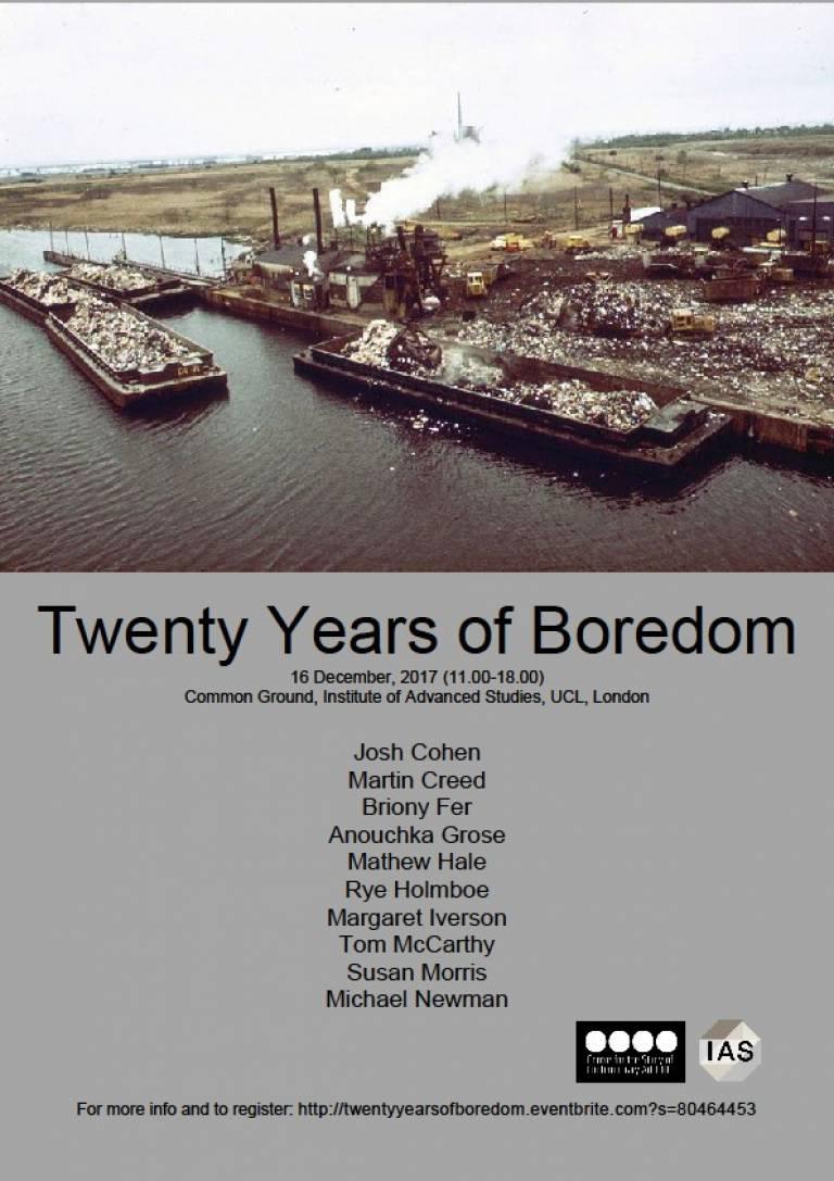 Twenty Years of Boredom
