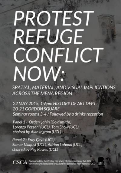 PROTEST//REFUGE//CONFLICT NOW: Spatial, material, and visual implications across the MENA region