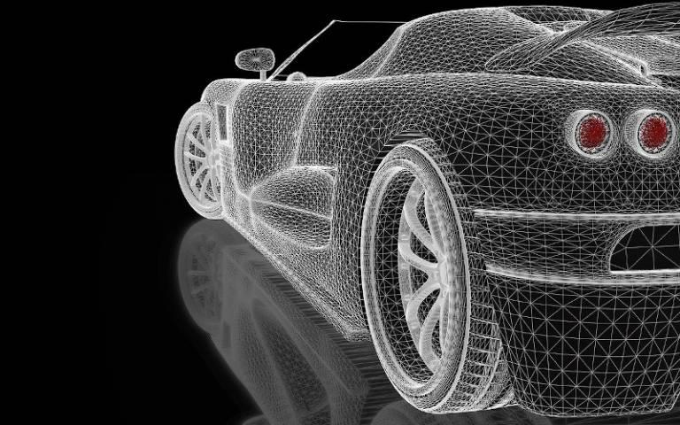 3D illustration of car
