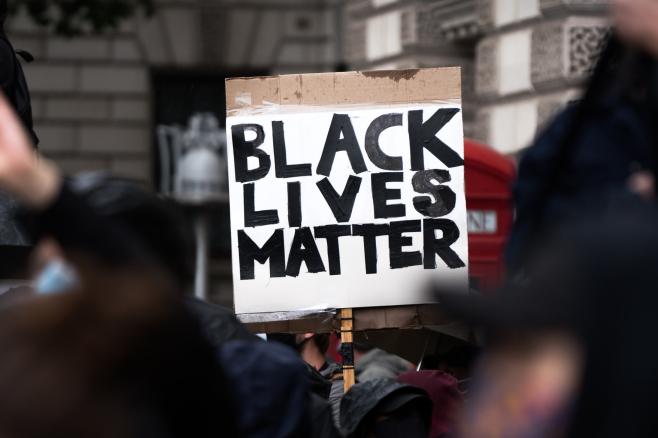 Black Lives Matter protest at Downing Street, London