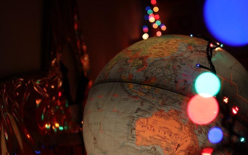 Globe with lights