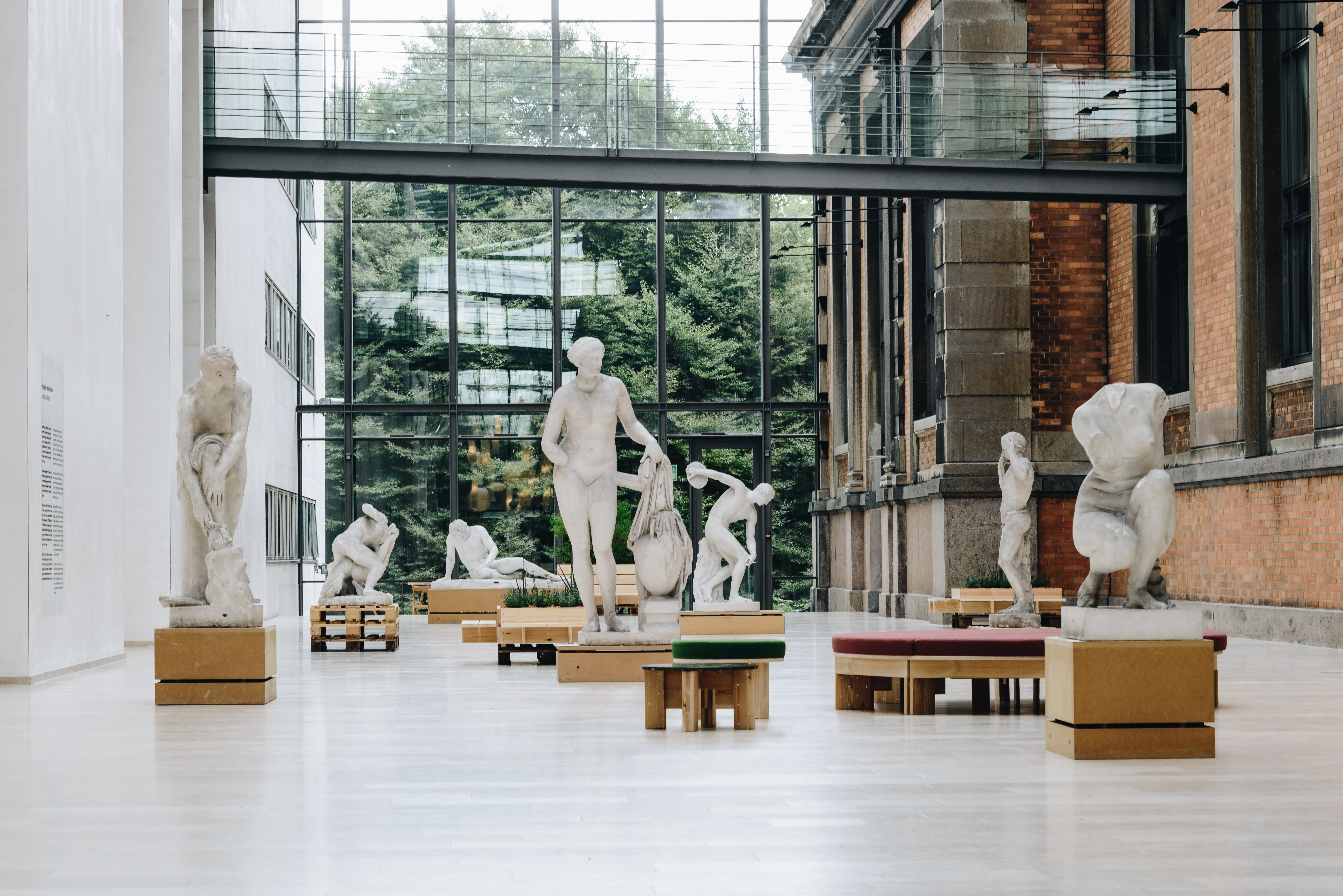 Statues in a museum