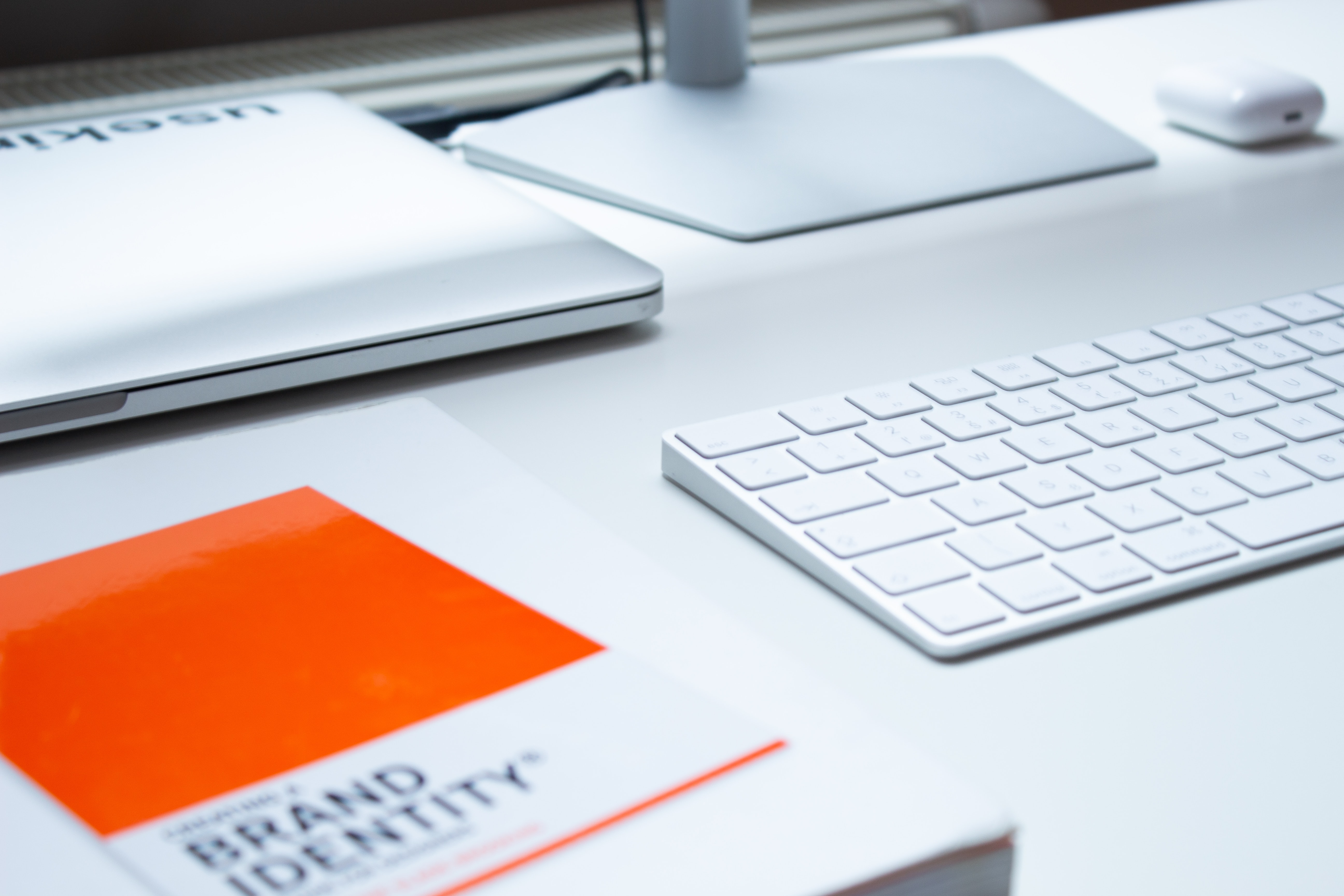 Brand Identity book on desk