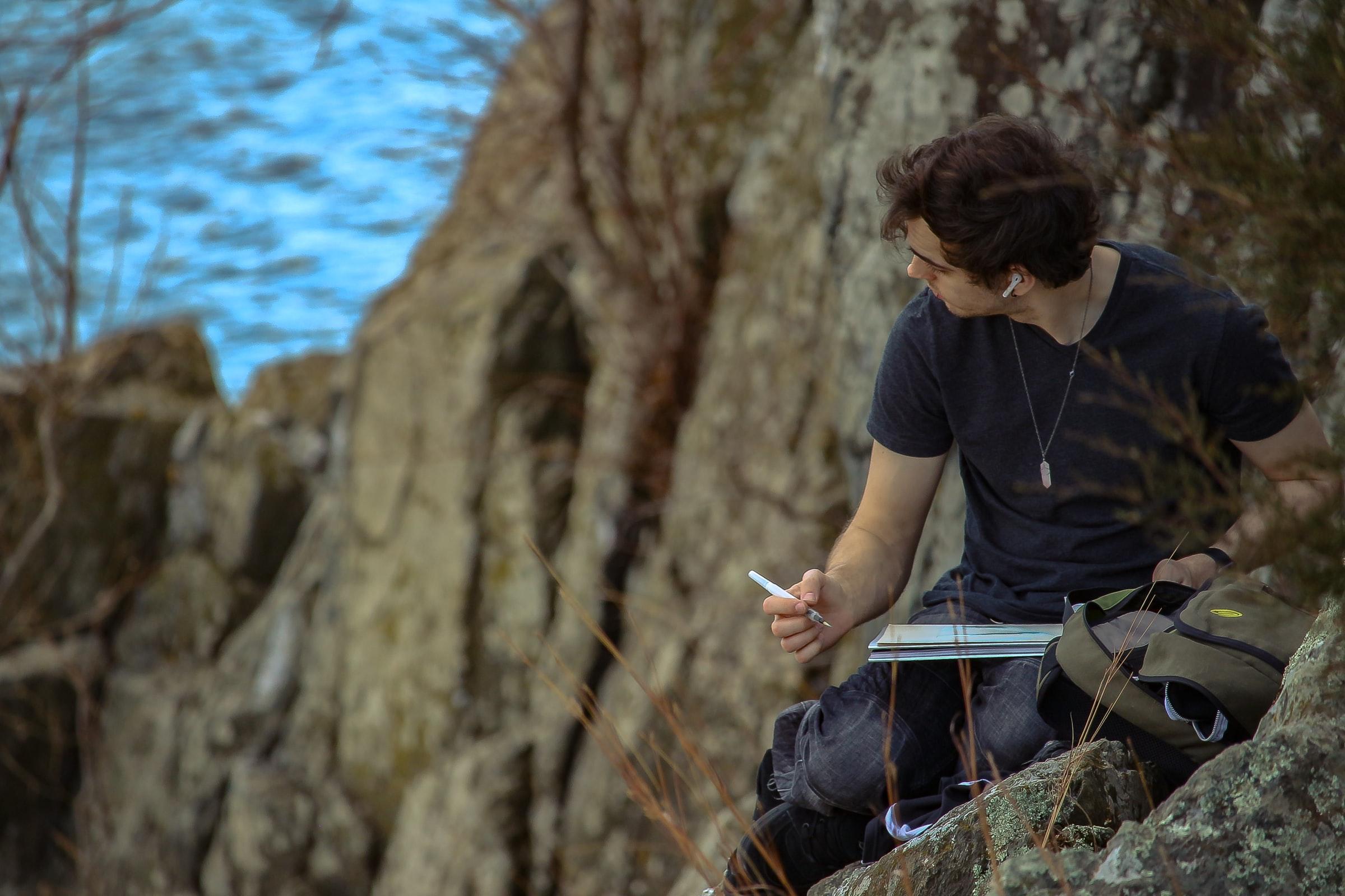 Writing on rocks