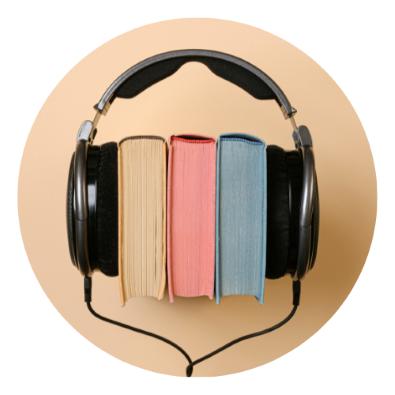 headphones around 3 books