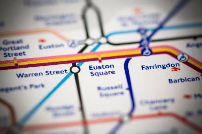 A section of the tube map
