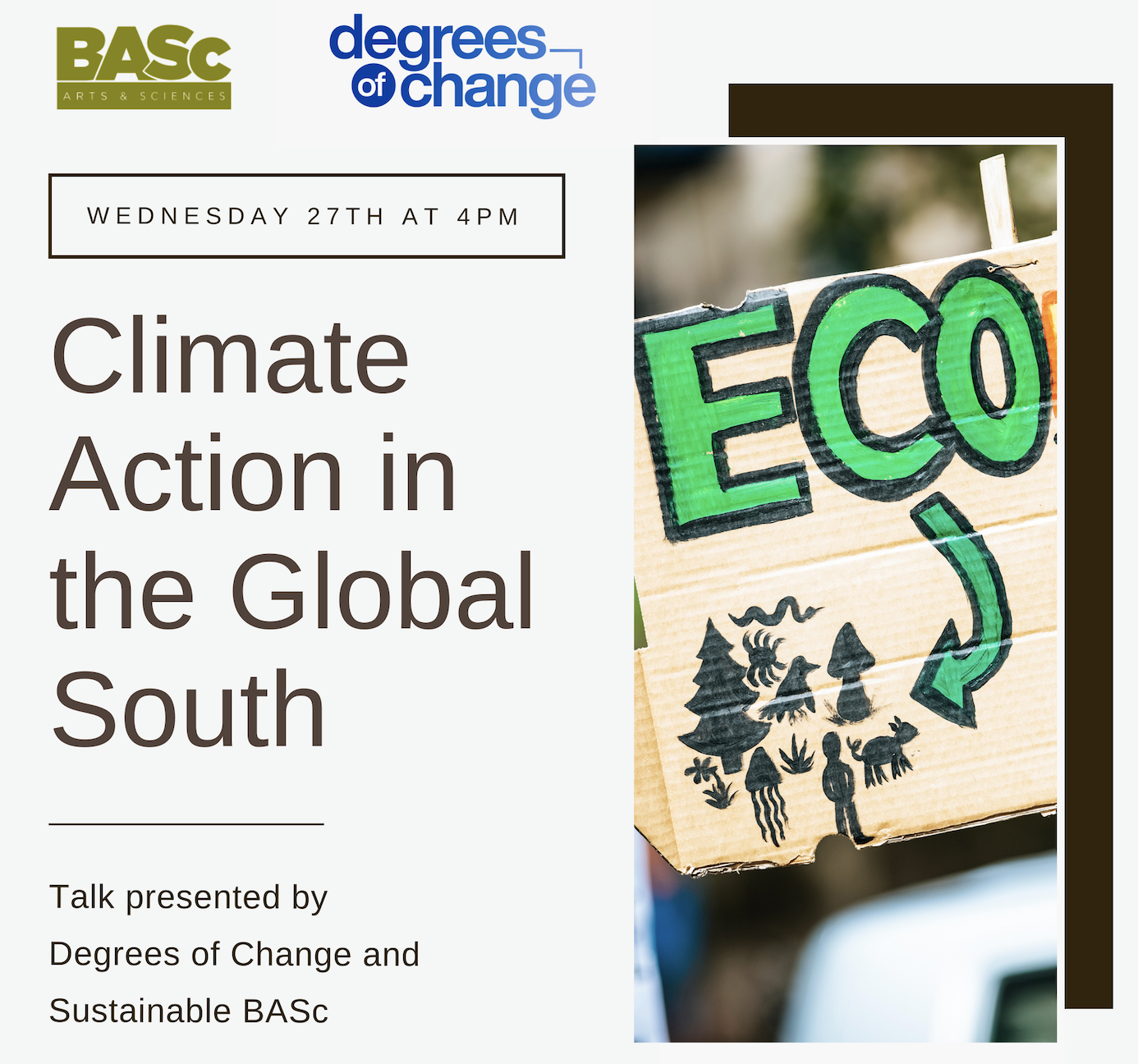 SustainableBASc and Degrees of Change talk