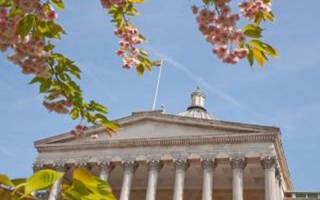 UCL Portico in Spring