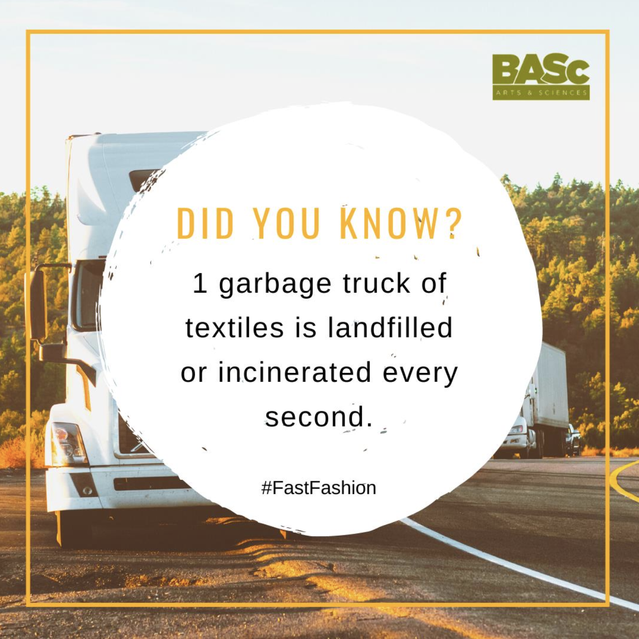 Did you know that one garbage truck of textiles is landfilled or incinerated every second?