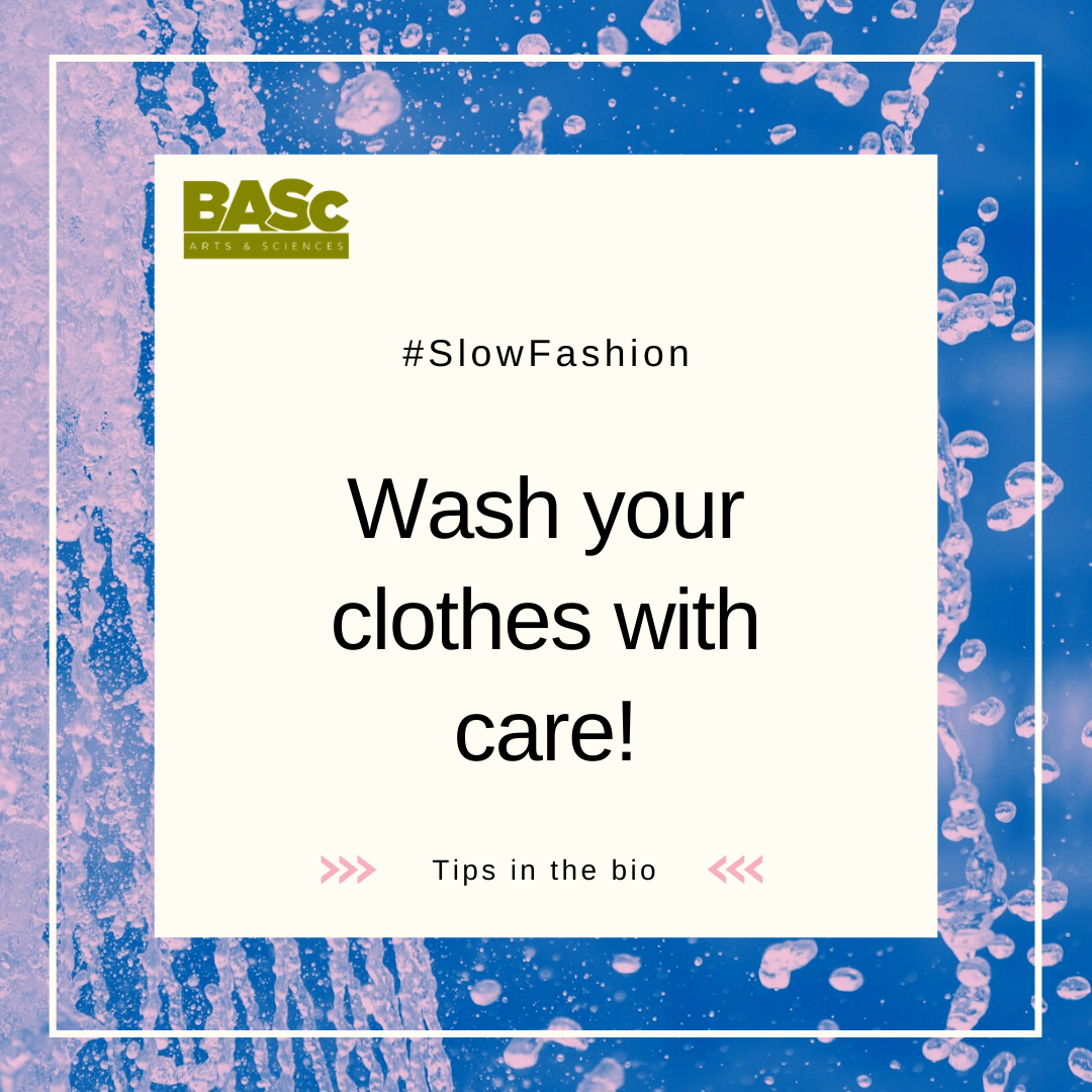 Wash your clothes with care!