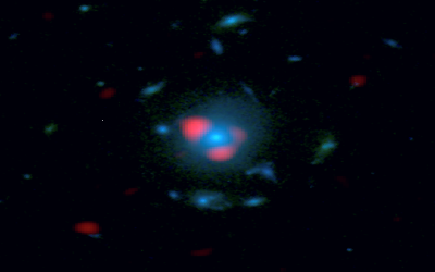 A Lensed Dusty High-Z Galaxy As Seen By Alma And HST