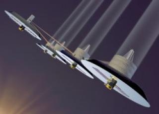 Infrared interferometer concept for Terrestrial Planet Finder. Credit: Lockheed/NASA