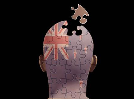 Jigsaw head with Union Jack