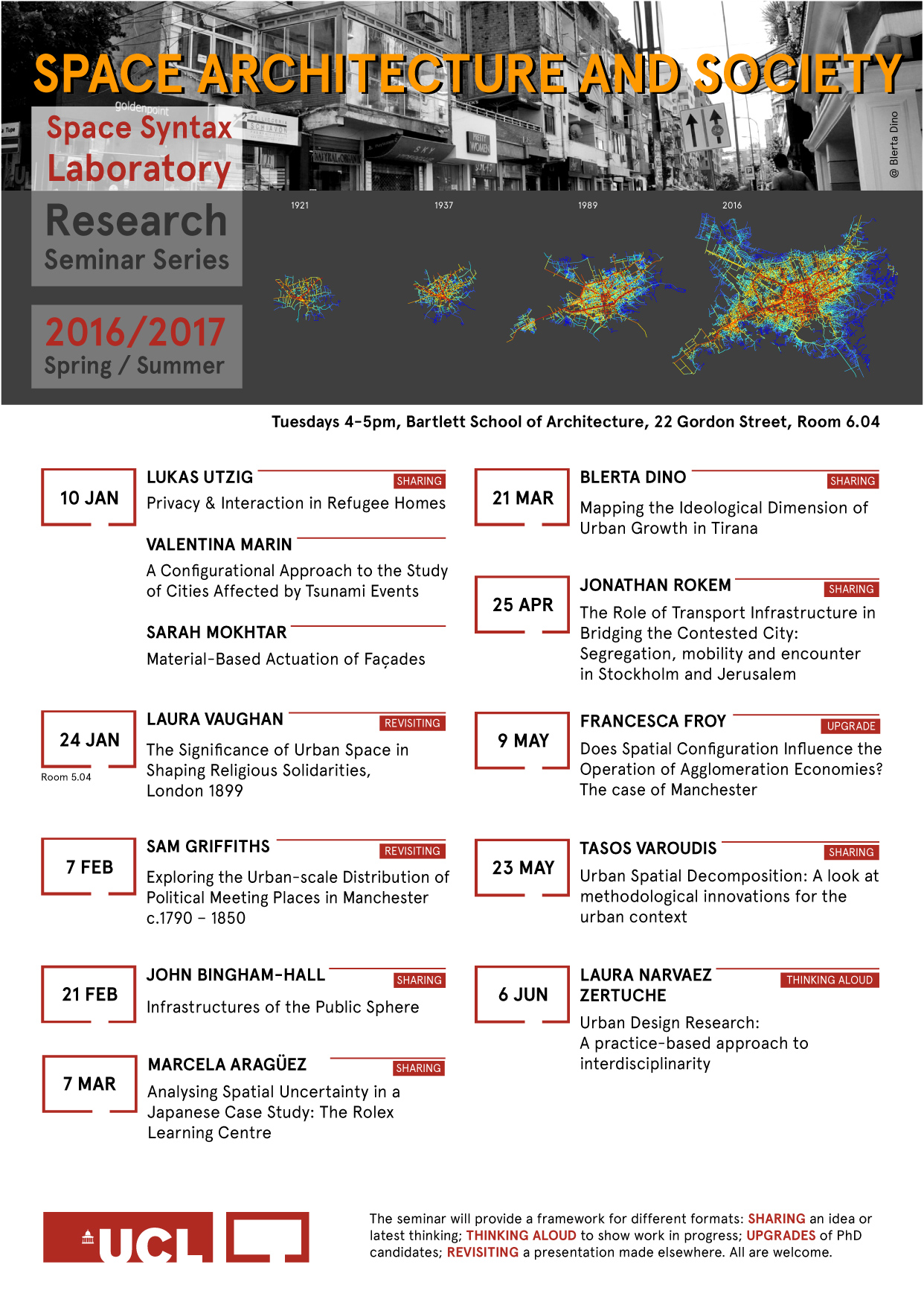 Space Syntax Laboratory Research Seminar Series