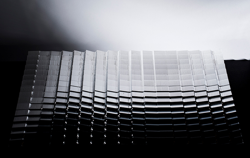Machining process of parametrically generated geometries on aluminium.