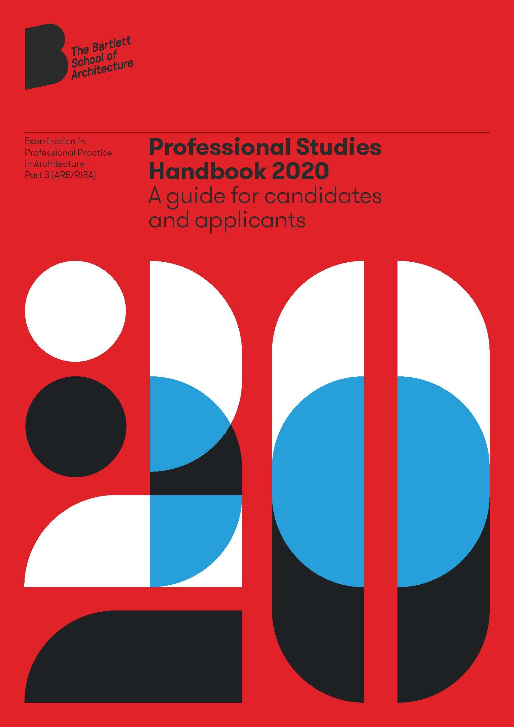 Bartlett School of Architecture Part 3 Handbook