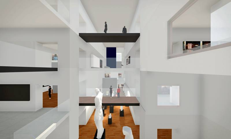 Athina Lazaridou, 'Spatial navigation in real and virtual museums in two and three dimensions: VR navigational model of the Ashmolean Museum in Oxford, UK.'