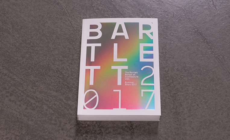 The Bartlett Summer Show Book 2017 on a concrete floor