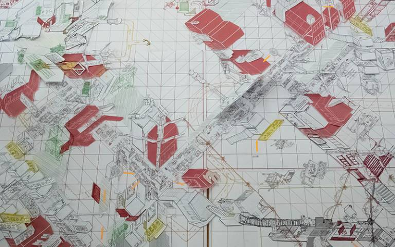 Collaborative drawing of Seoul by Bartlett and Hanyang students