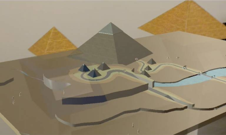 Pyramids of Giza 3D simulation