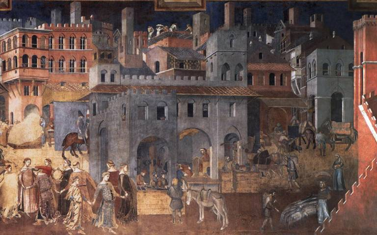 Ambrogio Lorenzetti's Allegory of the Effects of Good Government (1338) – a fourteenth-century sitopia