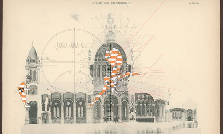 Old architectural drawing