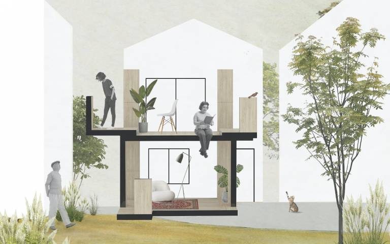"""Image: """"De-Alienating The Home"""" House Block Takeover, Design & Image by Gonzalo Herrero Delicado & The Good Thing"""