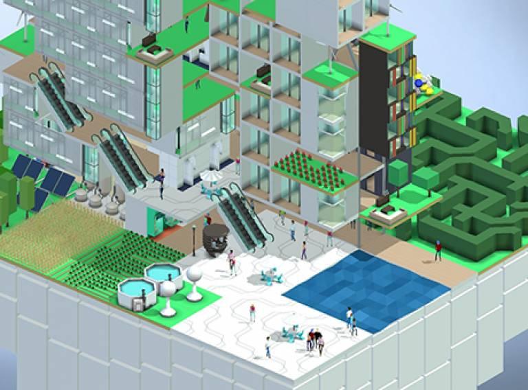 Computer simulation of architecture