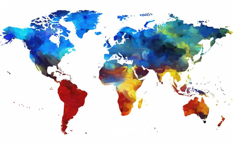Colour map of the world
