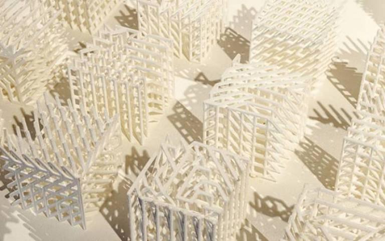 3D printed cream building models