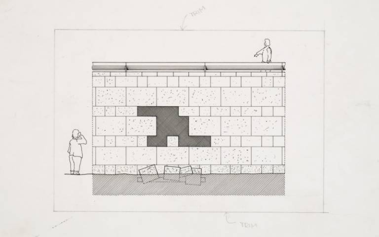 Image: Staatsgalerie, Stuttgart, Germany: Elevation (1977−1984), James Stirling/Michael Wilford Fonds, Canadian Centre for Architecture.