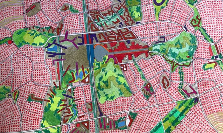 Experimental City - Drawing by Peter Cook