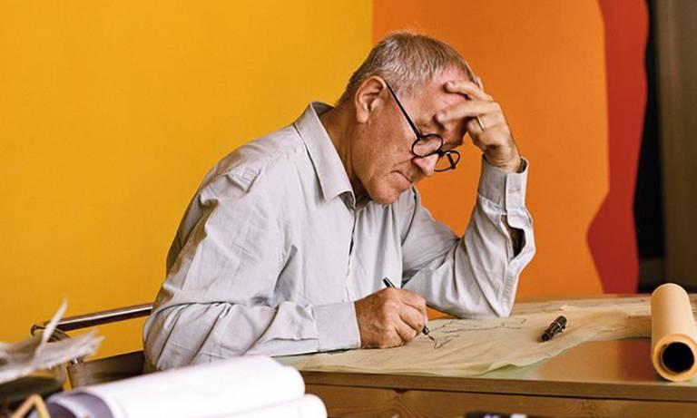 Peter Cook at work