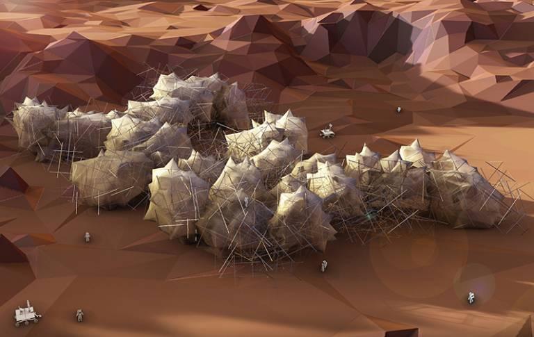 Speculative autonomous architecture proposal for Mars