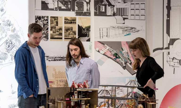 Visitors admire students' work at the 2016 Summer Show