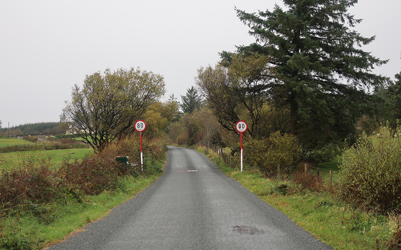 Public Road crossing the Irish Border, Cronolaghy, Co. Donegal, Ireland