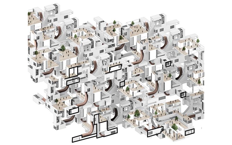 'Archilade', by Urban Design Research Cluster 17. Mengshi Fu, Ren Wang, Chenyi Yao, Zhaoyue Zhang