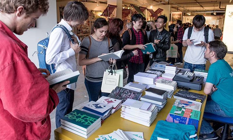 Books on sale to visitors at the 2016 Bartlett Summer Show