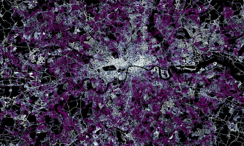 Satellite image of London