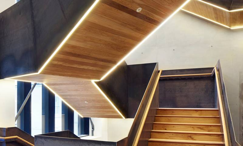 New staircase at The Bartlett School of Architecture, 22 Gordon Street © Jack Hobhouse