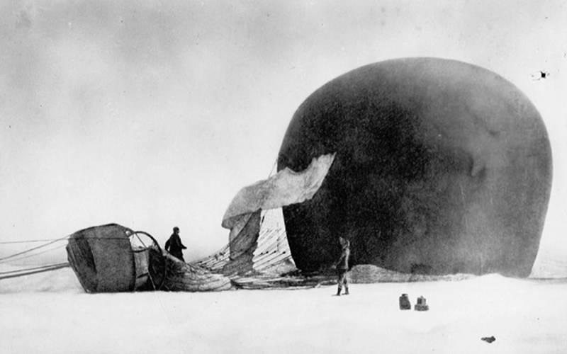 S.A. Andrée's 1897 balloon mission to the North Pole. Credit: Tekniska Museet