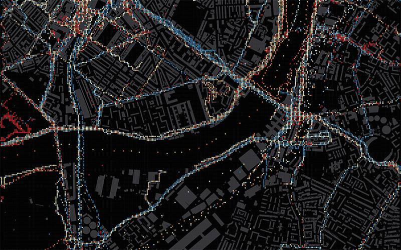 Pedestrian data traces in London, 2019